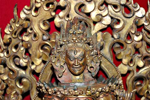 hevajra tantric buddhist yogi brass dagmena yogini
