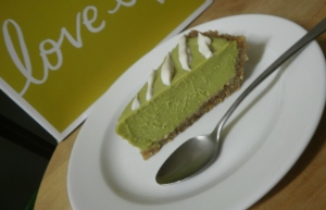 Raw Key Lime Tart.