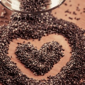 Chia seeds: a rich source of omega 3's.