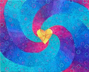 "Painting by Alison Dinardi  ""Circles of Love""  inspired by the vision of The Sterling Study Group http://whatanicewebsite.com/SterlingStudyGroup/"