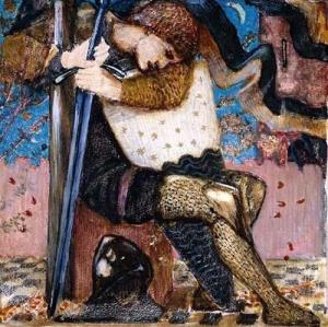 Arthur with Excalibur by Sir Edward Burne-Jones, 1859