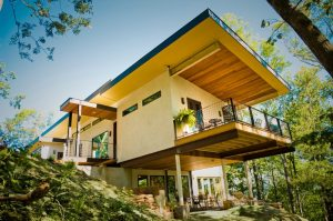 A house made with hempcrete.