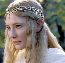 Here's Galadriel being all serious!