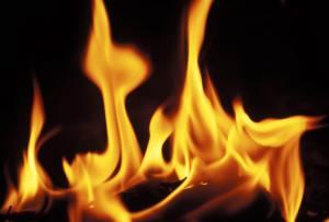 flames burn