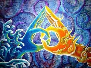 spiritual love two hands