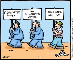 fluoride water cartoon