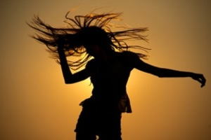 Ecstatic Dance Silhouette
