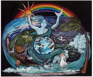 mother_earth with rainbow