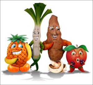 fruit and veg family