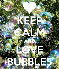 calm and love bubbles