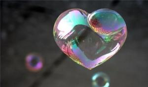 love bubble heart