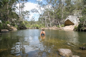 waterhole summer swimming