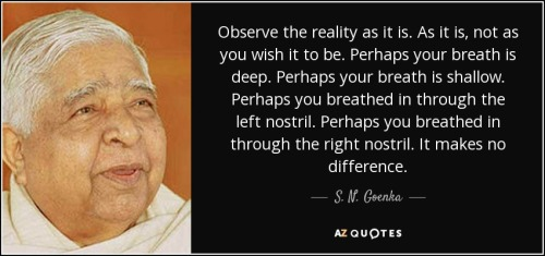Goenka breath and reality