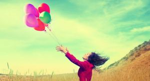 letting go of balloons