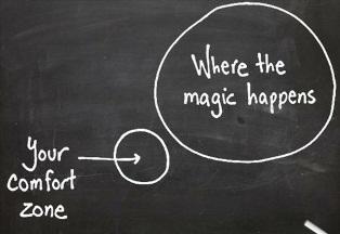 feel the fear comfort zone