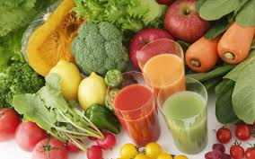 vegetables and juices